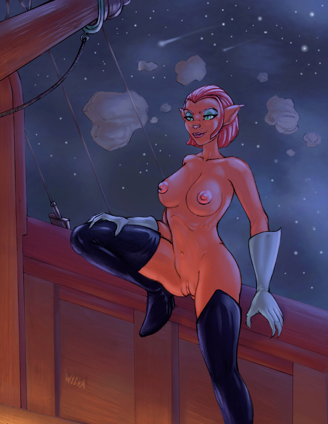 treasure planet amelia captain from The-killer-wc