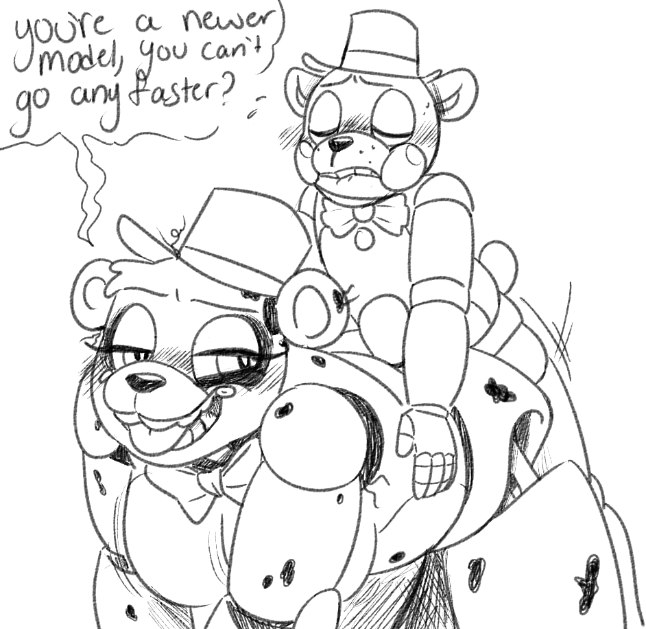 fred from nights at five freddy's bear Paper mario shadow queen hentai