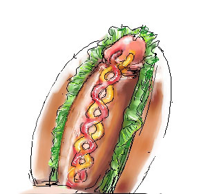 meme hot dog with headphones Dead or alive 6 nudity