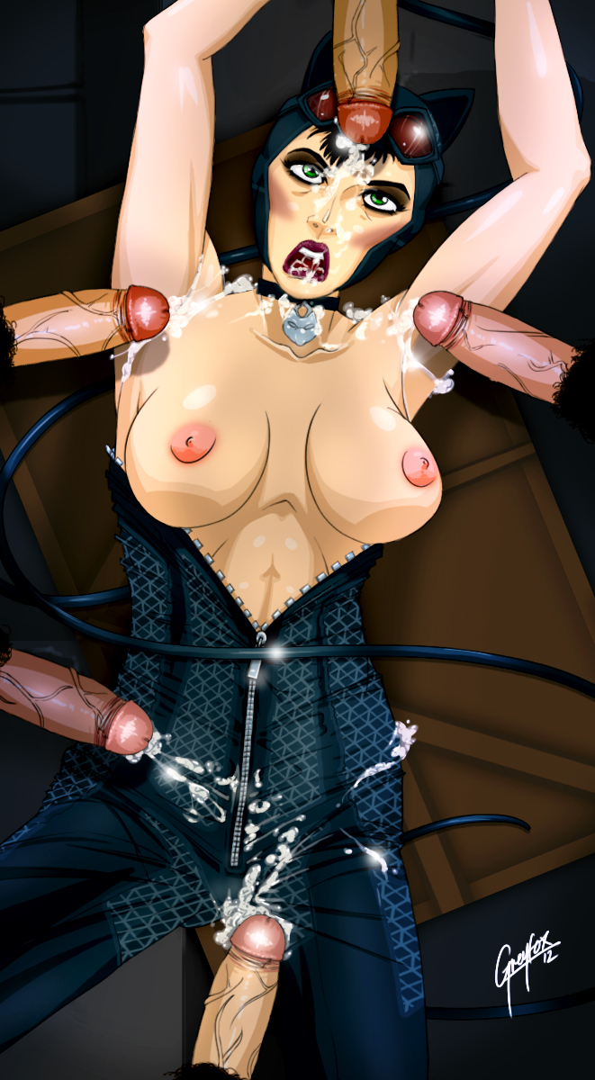 arkham porn catwoman city batman Anime girl tied up and gagged